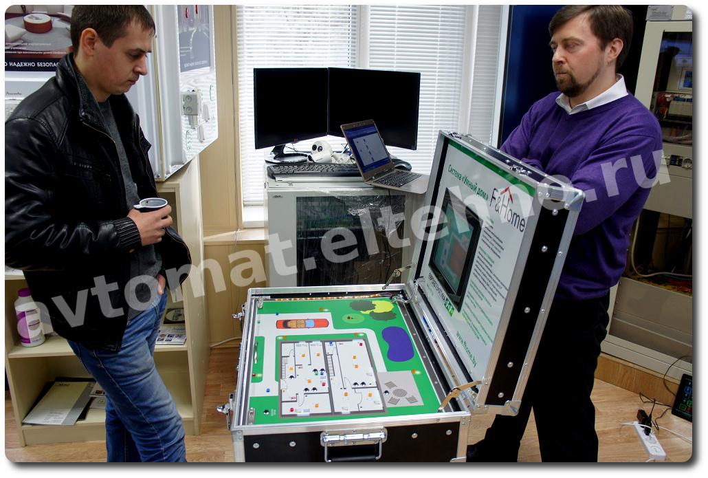 Во время перерыва слушатели семинара могли ознакомится с макетом  системы Умный дом F&Home