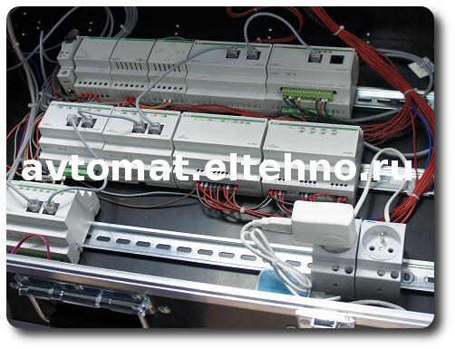 Приборы F&F Евроавтоматики использованые в макете F&Home