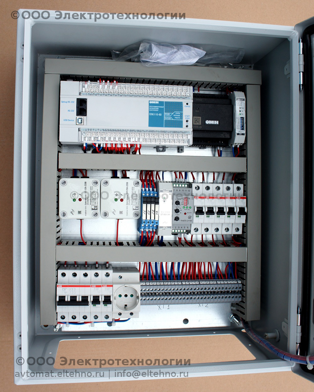 Начинка щита 3 системы автоматизации ГНС