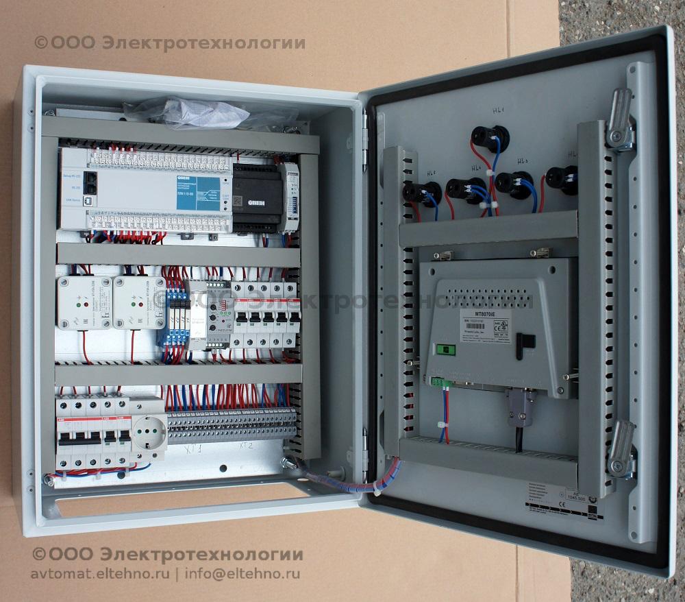 Общий вид щита управления 3 системы автоматизации ГНС
