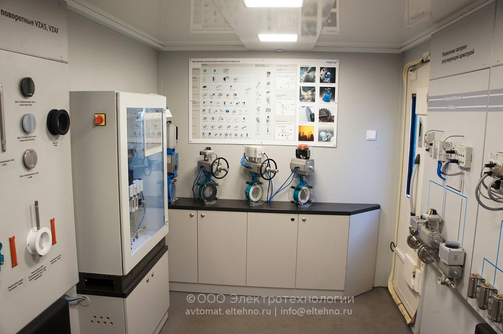 Экспозиция Festo была представлена дисплеями с поворотными затворами VZAS (поворотные затворы общепромышленного исполнения) и