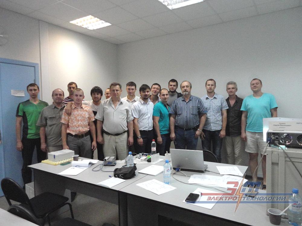 Слушатели семинара-обучения по прборам пневматики Festo