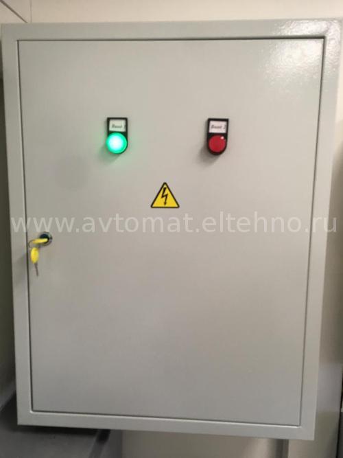 Электрощит системы автоматического управления системой дымоудаления в магазине Магнит