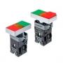 MTB2-BW8361, MTB2-BW8461, MTB2-BW8363, MTB2-BW8463 двойные кнопки с LED подсветкой и пружинным возвратом Meyertec