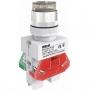 ВК22-ABLFP-WHI-LED кнопочный выключатель Dekraft
