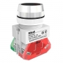 ВК30-ABLF-BLK выключатель кнопочный чёрный потайной без индикации Dekraft