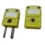 K-11/12. Плоский мини-разъем для подключения термопар типа XA(K), зеленый (желтый) Рэлсиб
