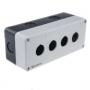 MTB2-PE4 Meyertec корпус пластиковый на четыре кнопки серого цвета
