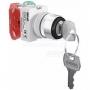 ПЕ22-AKS-2-BLK переключатель ключ без индикации Dekraft