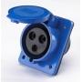 РЩ102-3-16-IP44  2P+PE розетка для скрытой проводки Dekraft
