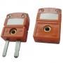 ZZ-M09-S. Плоский мини-разъем, для подключения термопар типа ТПП (S), оранжевый Рэлсиб