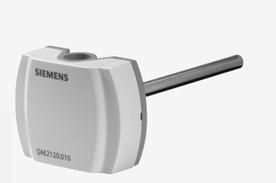 QAE2120.015 - Погружной датчик температуры 150 мм LG-Ni 1000 с защитной гильзой Siemens