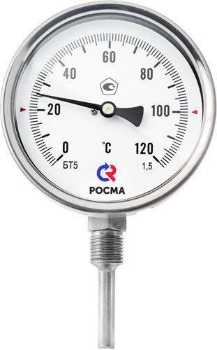 БТ-52.220 коррозионностойкие термометры (радиальное присоединение) РОСМА