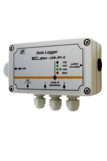 Авт. регистратор температуры EClerk-USB-2Pt-G двухканальный повышенной точности