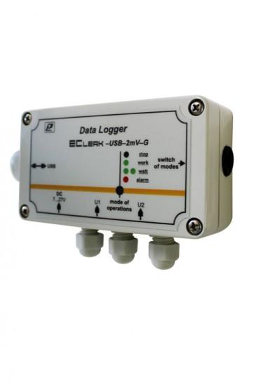 Автономный регистратор постоянного напряжения EClerk-USB-2mV-G