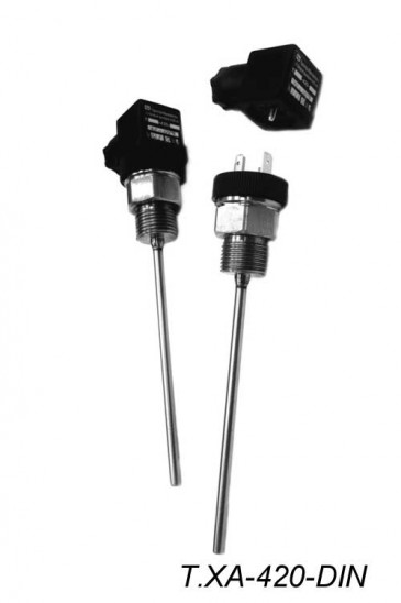Датчики температуры жидкости и сыпучих сред Т.п/п-420-DIN, Т.ХА-420-DIN Рэлсиб