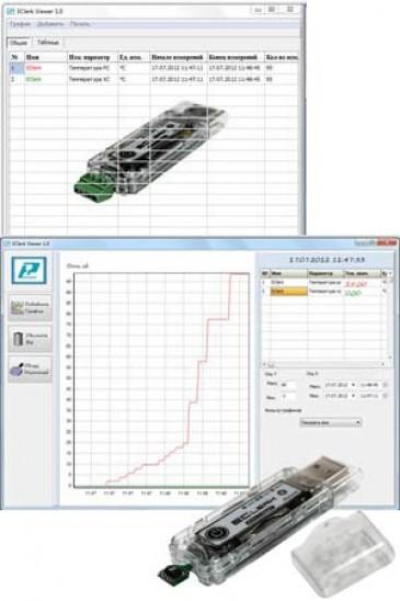 Программа - просмотрщик данных для автономного регистратора EClerk-USB Рэлсиб