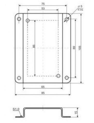 Кронштейн КД1–Н для приборов и датчиков в настенном корпусе Рэлсиб