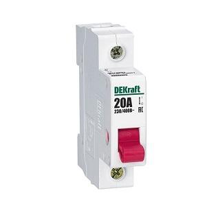 ВН102-1Р-020А выключатель-разъединитель Dekraft