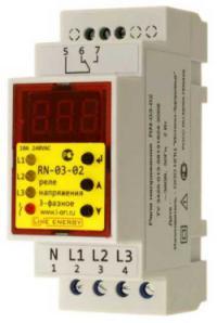 Реле напряжения RN-03-02  Line Energy