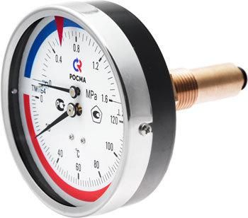 ТМТБ-3 термоманометр с осевым присоединением РОСМА