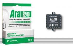 Диммер (светорегулятор) кнопочный «Агат-К-200»  Ноотехника