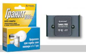 Блок защиты галогенных ламп и ламп накаливания «Гранит» БЗ-1000  Ноотехника