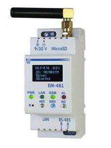 ЕМ-481 контроллер WEB-достпа к управлению MODBUS-оборудованием Новатек-Электро