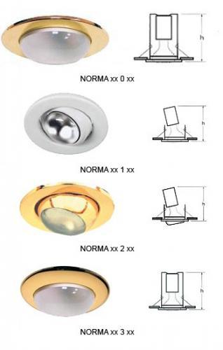 Светильники Norma потолочные встраиваемые