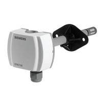 QFM4160 - Канальный датчик влажности (DC 0...10 В) и температуры (DC 0...10 В) с калибровочным сертификатом  Siemens
