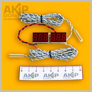 Т-036-3D-duo AKIP-DON встраиваемый электронный двойной термометр