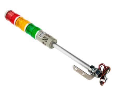MT45-RYG220B Meyertec светосигнальная лампа с зуммером 220В AC
