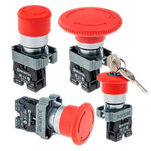 MTB2-BSZ1244, MTB2-BSZ1254, MTB2-BSZ1264, MTB2-BSZ1214  кнопки с грибовидным толкателем возврат поворотом Meyertec