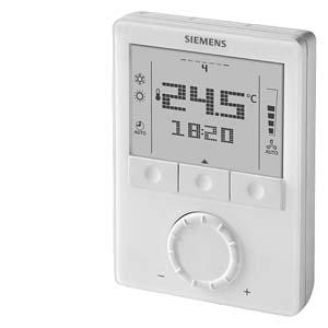 RDG100T - Комнатный термостат, AC 230 В, для фэнкойлов и универсальных приложений ОВК; 7-дневное расписание Siemens