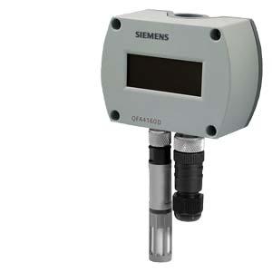 QFA4160D - Влажность 2%, сертифицированный комнтаный датчик температуры с дисплеем, 0 ... 10 В Siemens