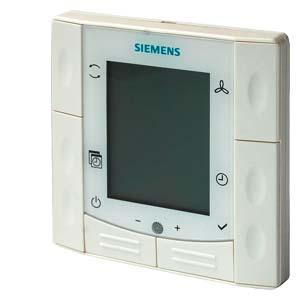 RDF600T - Комнатный термостата, утопленный монтаж в круглой монтажной коробке Siemens