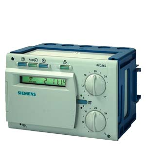 RVD260-A - Controller' 14 programmed plant types, instructions in de, en, fr, it, da, fi, sv  Siemens