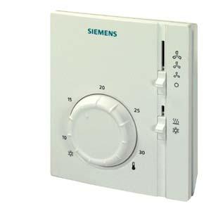 RAB31 - Электромеханический комнатный термостат для 4-трубных фэнкойлов, переключатель нагрев/охлаждение Siemens