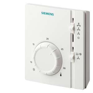RAB11.1 - Электромеханические комнатные контроллеры температуры с функцией раздельной вентиляции для 2-трубных фэнкойлов Siemens