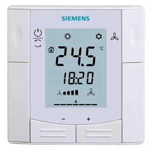 RDF600KN - Комнатный термостат полууплотненного монтажа, с коммуникацией KNX, для 2-/4-трубных фэнкойлов или оборудования DX Siemens