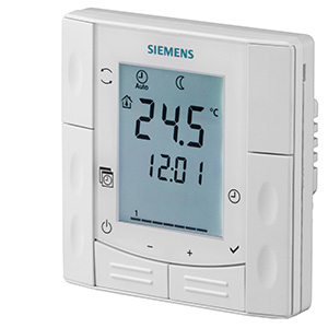RDE410/EH - Комнатные термостаты для полуутопленного монтажа Siemens