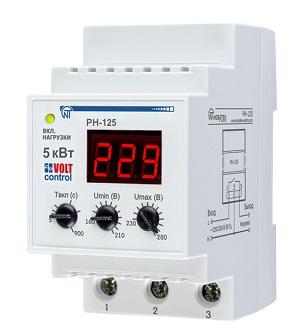 РН-125 «Volt Control» 25А реле напряжения Новатек-Электро
