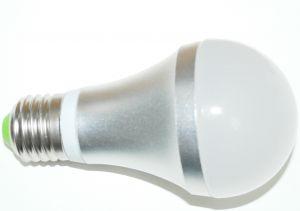 Светодиодная лампа в цоколе E27 с датчиком света и движения 220В 5 ватт