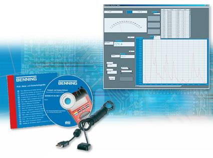 Профессиональное программное обеспечение для протоколирования и анализа Benning  BENNING PC-Win MM10 MM 11