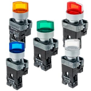 MTB2-BK2361, MTB2-BK2461, MTB2-BK2561, MTB2-BK2661, MTB2-BK2761 переключатели с LED подсветкой и фиксацией Meyertec