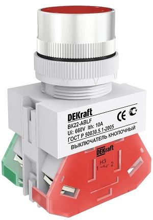 ВК22-ABLF-RED кнопочный выключатель Dekraft