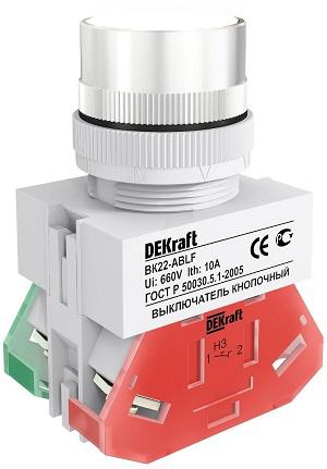 ВК22-ABLF-WHI кнопочный выключатель Dekraft