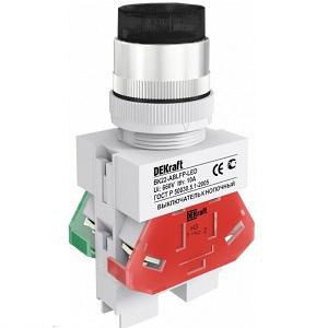 ВК22-ABLFP-BLK кнопочный выключатель Dekraft