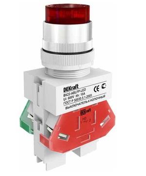 ВК22-ABLFP-RED-LED кнопочный выключатель Dekraft