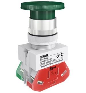 ВК22-AEAL-GRN кнопочный выключатель Dekraft